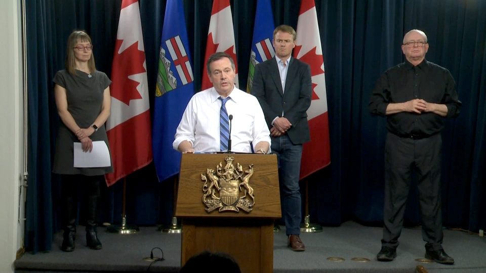 Kenney slightly loosens COVID restrictions on Alberta