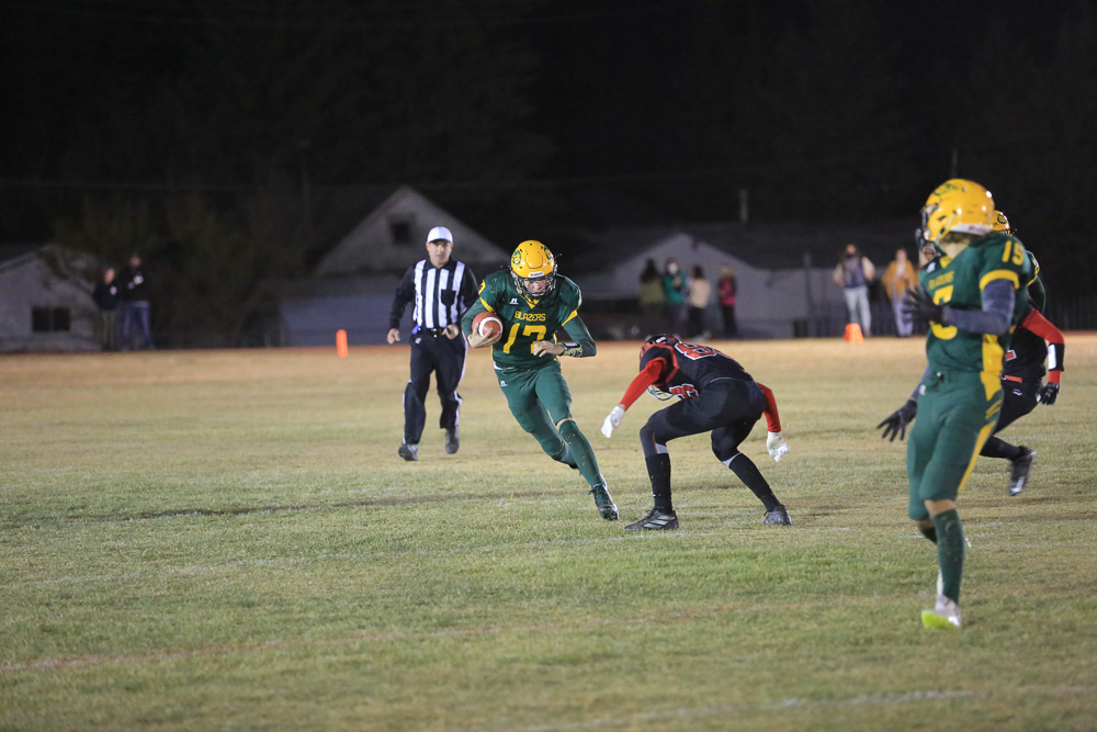 Mcmahon runs with the ball
